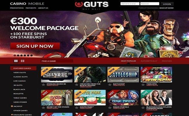 guts casino home