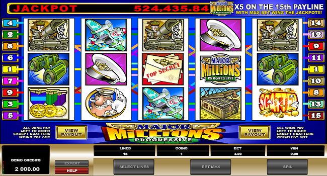 Major Millions (Microgaming) Slot