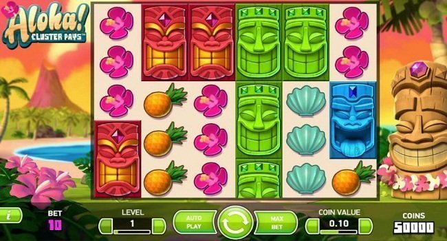 NetEnt Aloha! Cluster Pays Slot Review