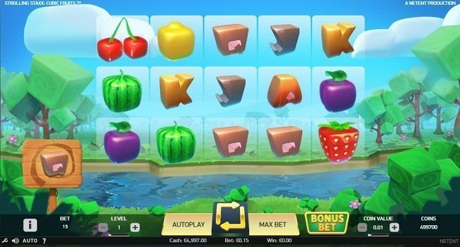 Strolling Staxx Cubic Fruits (NetEnt) Slot