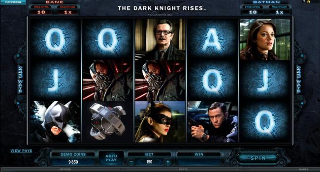 The Dark Knight Rises (Microgaming) Slot