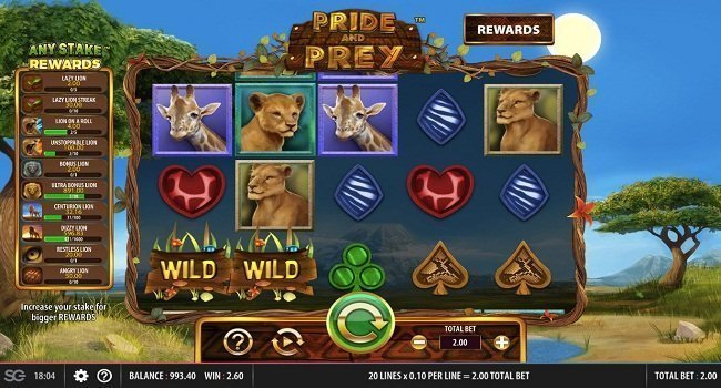 Pride And Prey (WMS) Slot Review