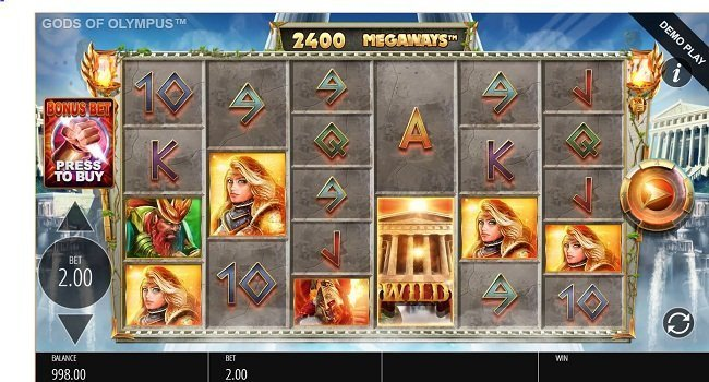 Gods Of Olympus Megaways (Blueprint Gaming) Slot Review