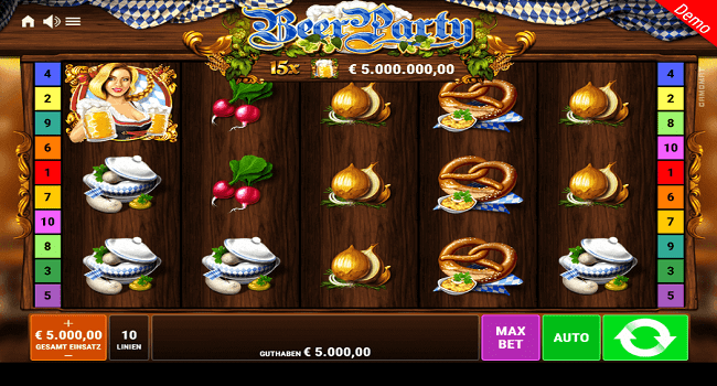 Beer Party (Gamomat) Slot Machine