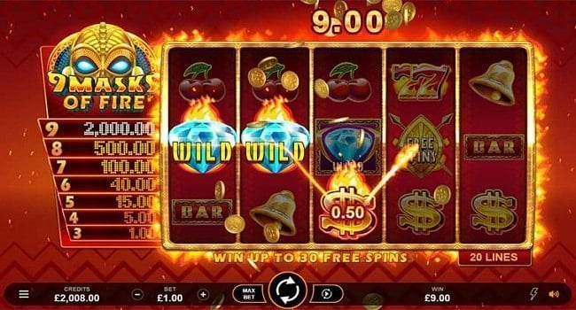 9 Masks of Fire (Microgaming) Slot Review