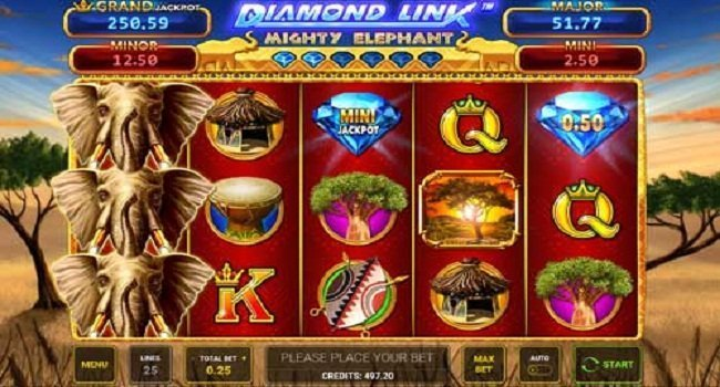 Diamond Link Mighty Elephant (Greentube) Slot Review