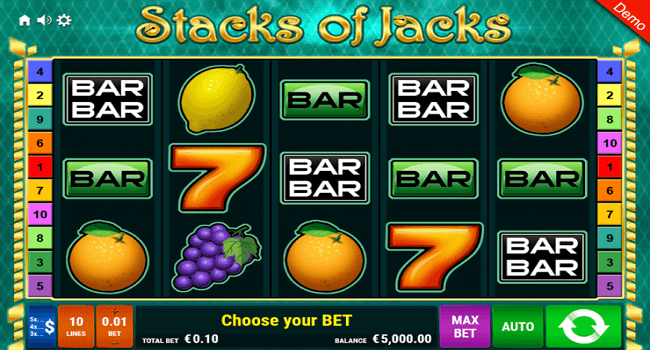 Stacks of Jacks (Gamomat) Slot Review
