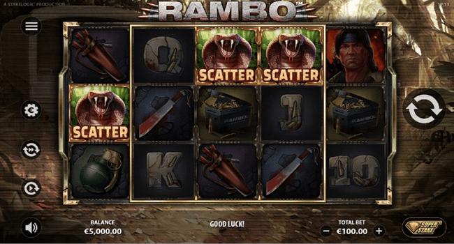 Rambo (Stakelogic) Slot Review